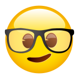 Emoticones de cumpleaños carita con anteojos