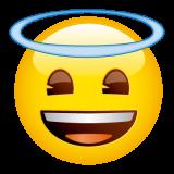 Emoticones de cumpleaños carita con aureola