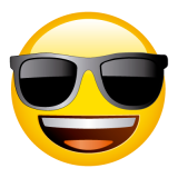 Emoticones de cumpleaños carita con gafas