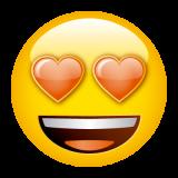 Emoticones de cumpleaños carita enamorada