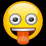 Emoticones de cumpleaños carita sacando la lengua