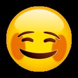 Emoticones de cumpleaños carita sonrojada