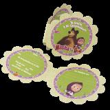 cotillon masha tarjeta de invitación
