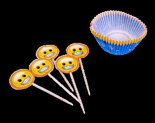 cotillon emoji capsulas y pinchos