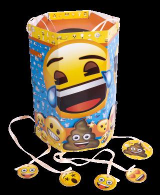 cotillon emoji piñata hexagonal