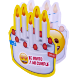 cotillon emoji tarjeta de invitacion