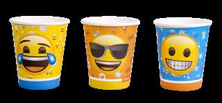 cotillon emoji vasos