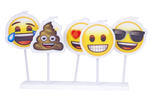 cotillon emoji velas picks