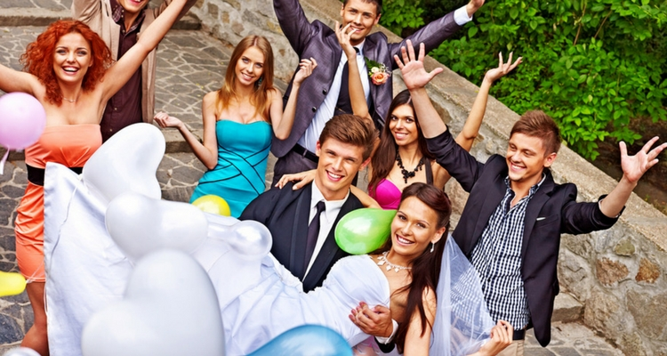 decoracion con globos matrimonio