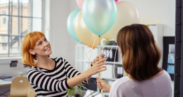 decoracion con globos oficina