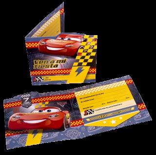 tarjeta invitación cars 3 para cumpleaños