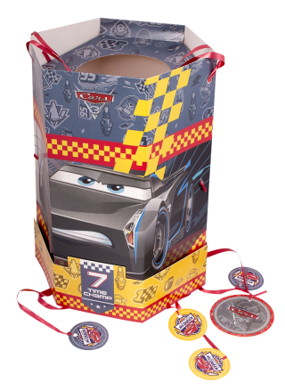 piñata hexagonal cumpleaños de cars 3