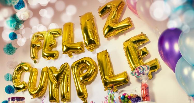 globos con números y letras feliz cumple