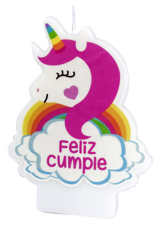 velas animadas con frases feliz cumple unicornio