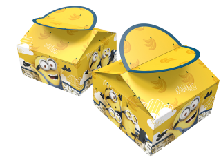 caja sorpresas cumpleaños minions