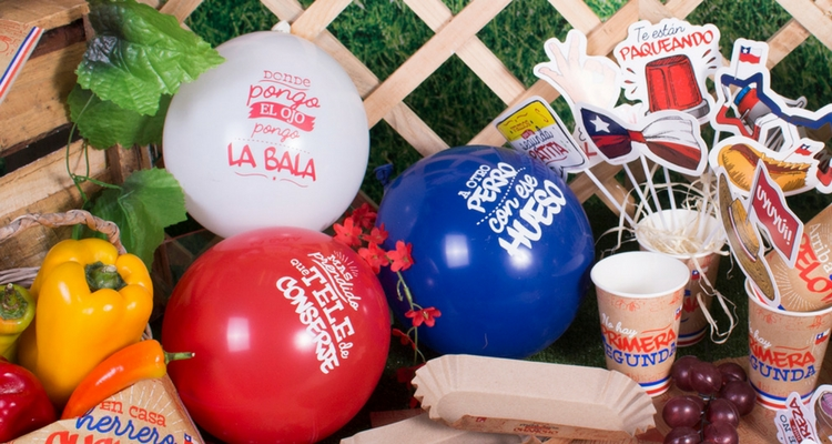 globos cotillón para fiestas patrias