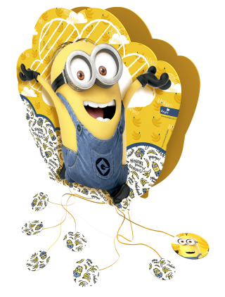 piñata 3d cumpleaños minions