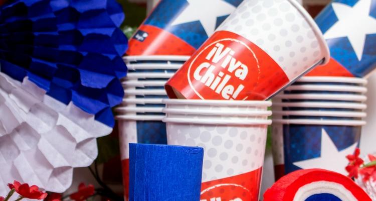 vasos decoración para fiestas patrias