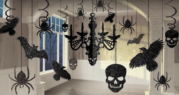 decoración para halloween arañas