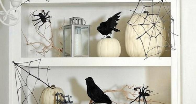 decoración para halloween telarañas