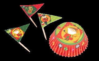 decoración de navidad cupcakes y pinchos