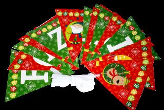 decoración de navidad guirnalda triangular