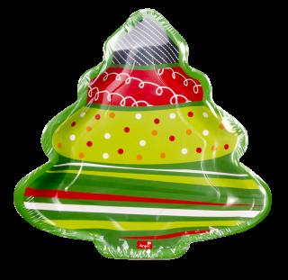 decoración de navidad plato con forma de árbol