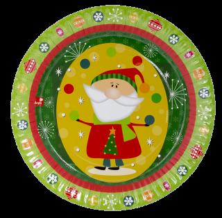 decoración de navidad platos
