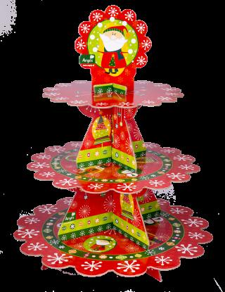 decoración de navidad portacupcakes