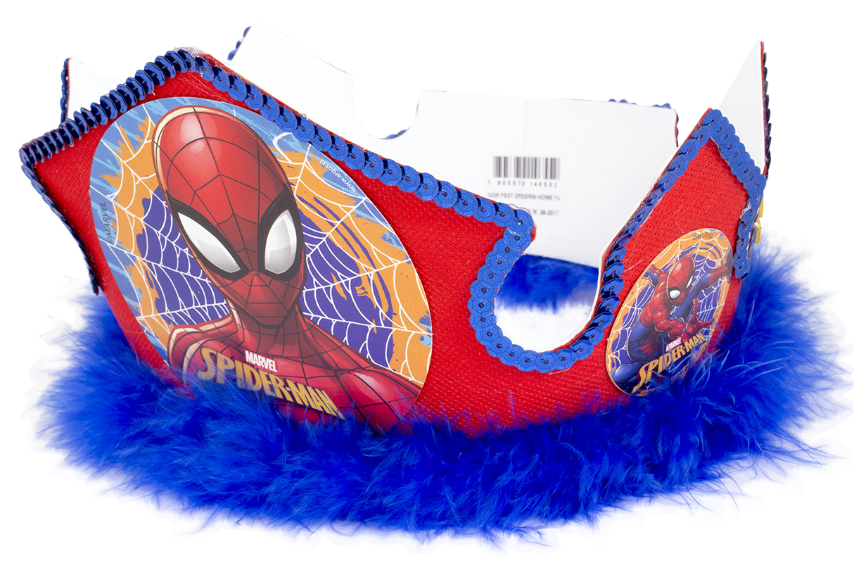 decoración de spiderman gorro festejado