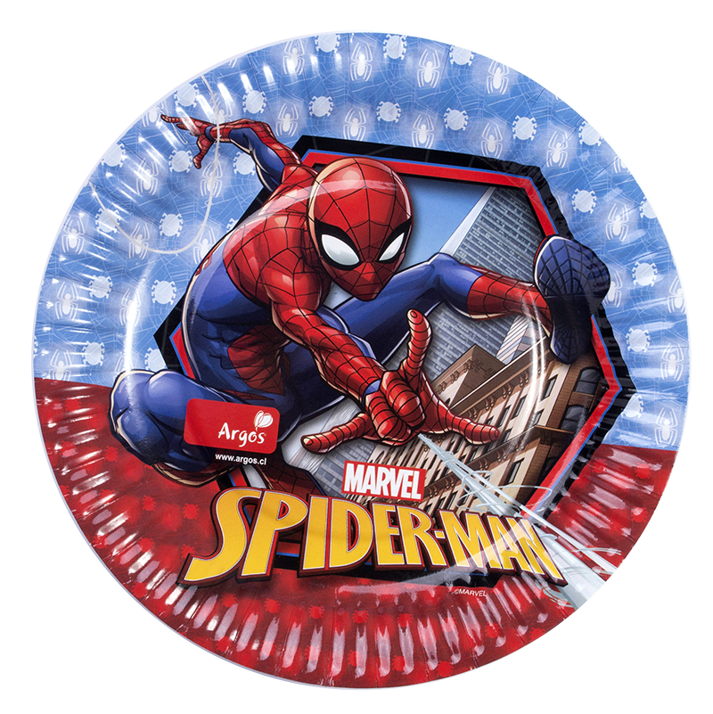 decoración de spiderman platos