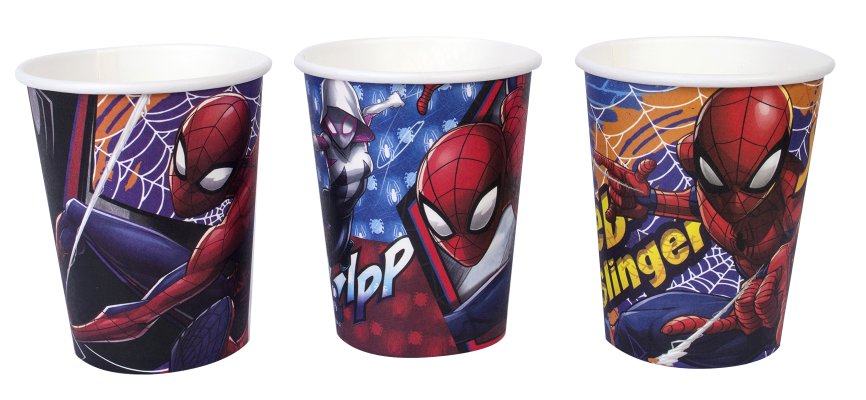 decoración de spiderman vasos