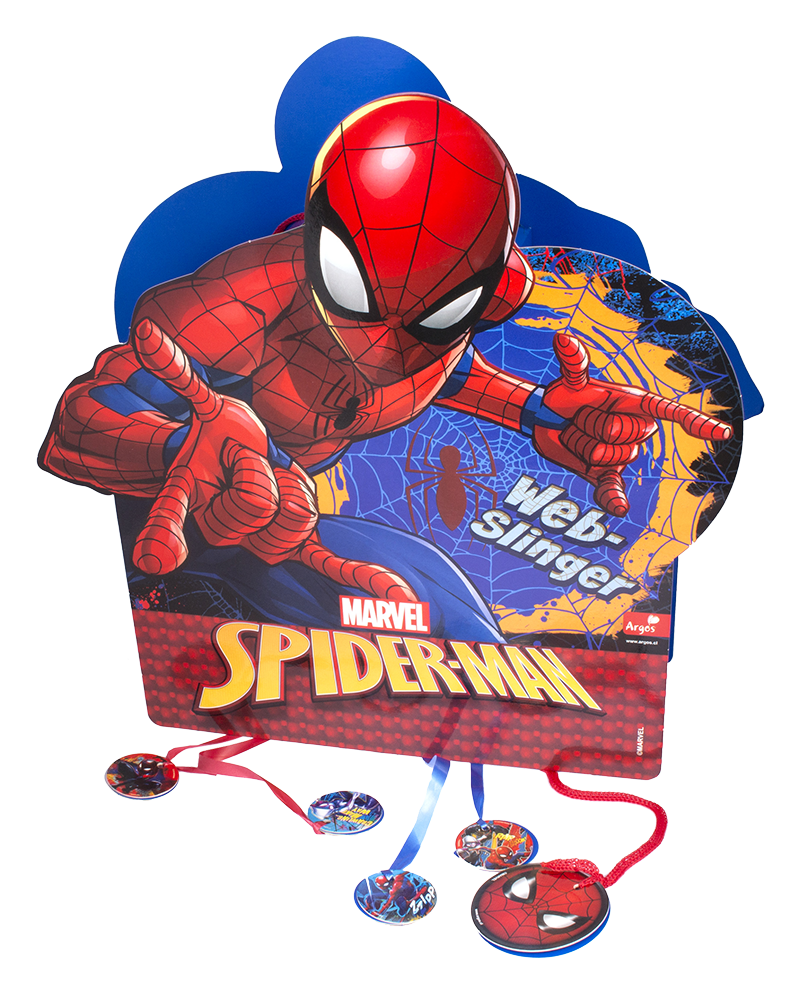 decoración de spiderman piñata 3d