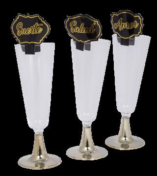 decoración para año nuevo copas