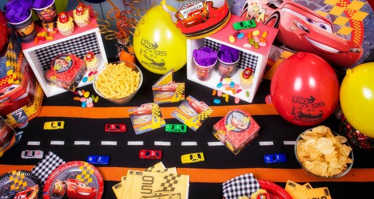 cumpleaños de niños cotillón cars