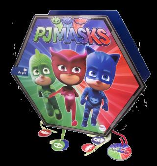 cumpleaños pj masks piñata 3d