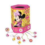 cumpleaños de minnie piñata hexagonal