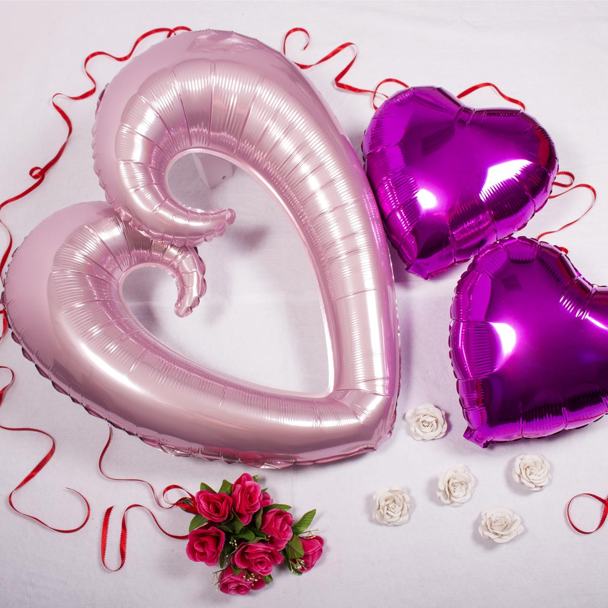 globos corazón día de los enamorados