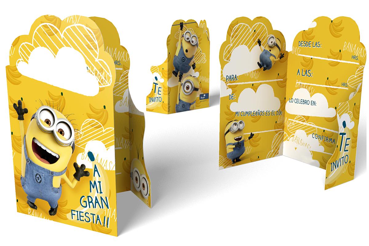 invitaciones de cumpleaños infantiles Minions