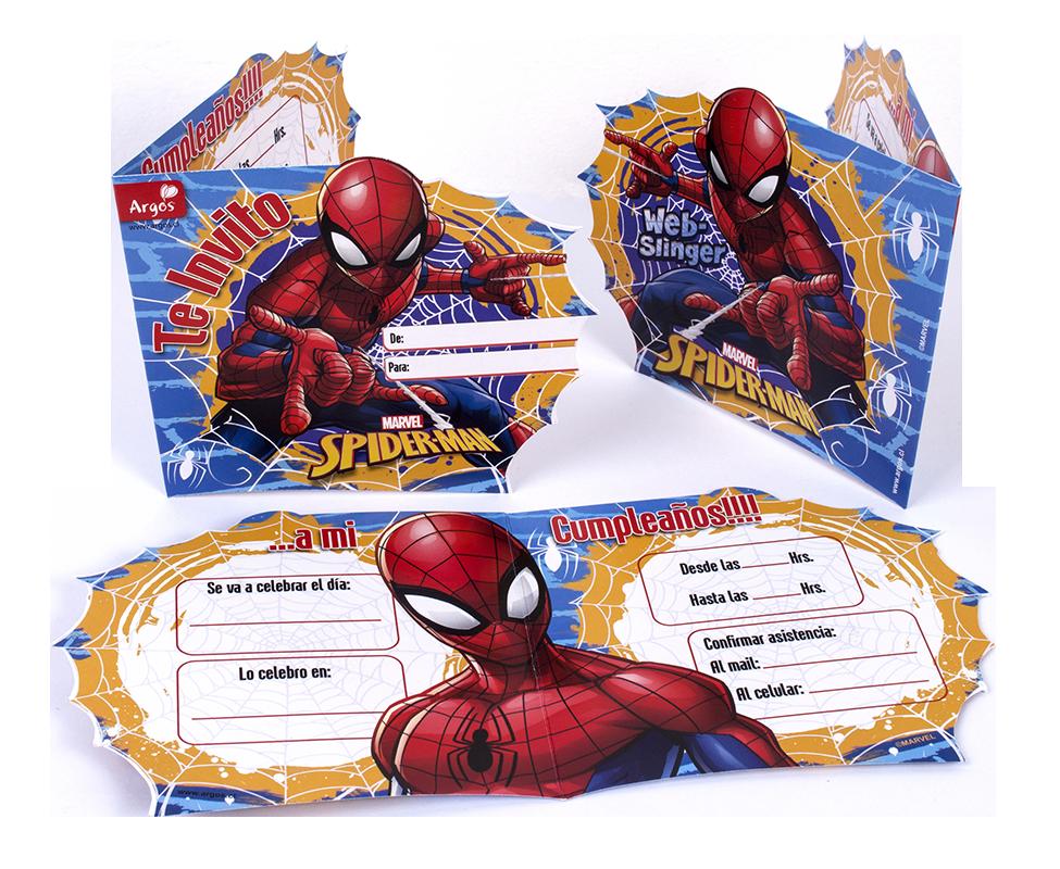 invitaciones de cumpleaños infantiles spiderman