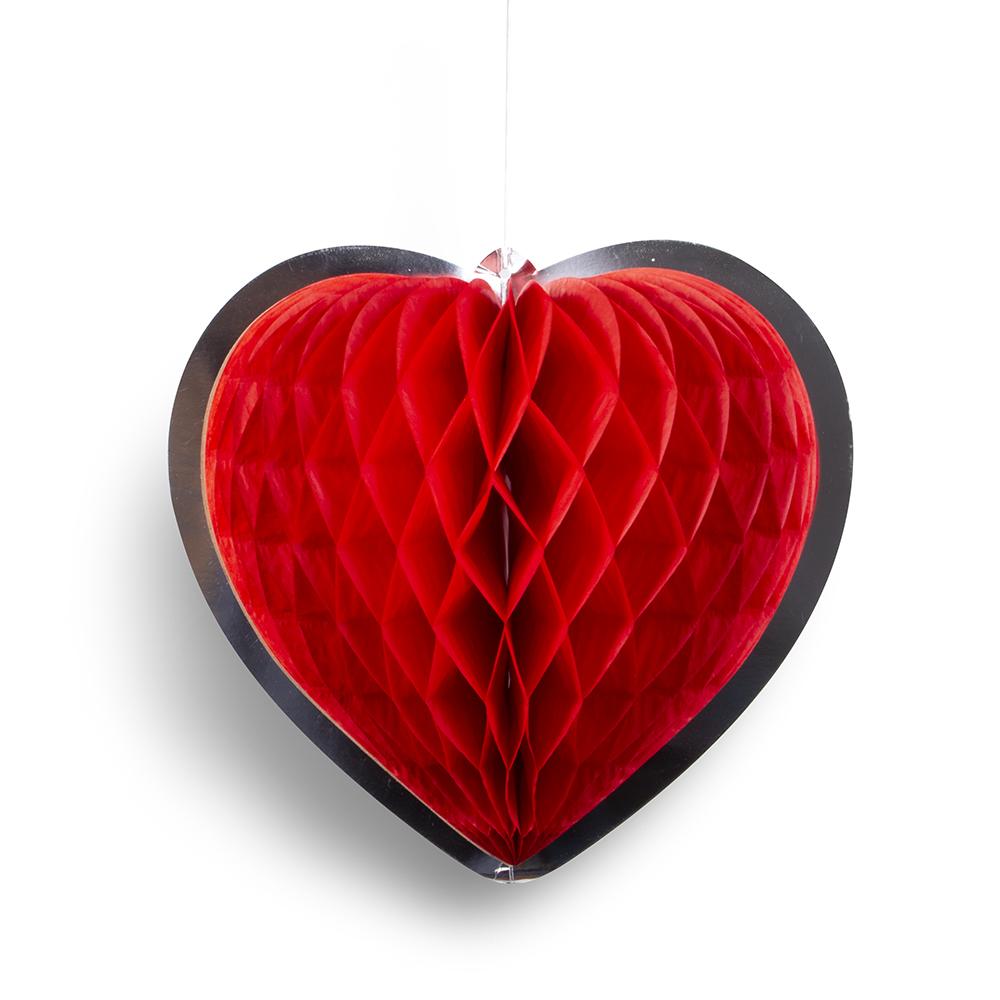 adorno con forma de corazón para el dia de los enamorados