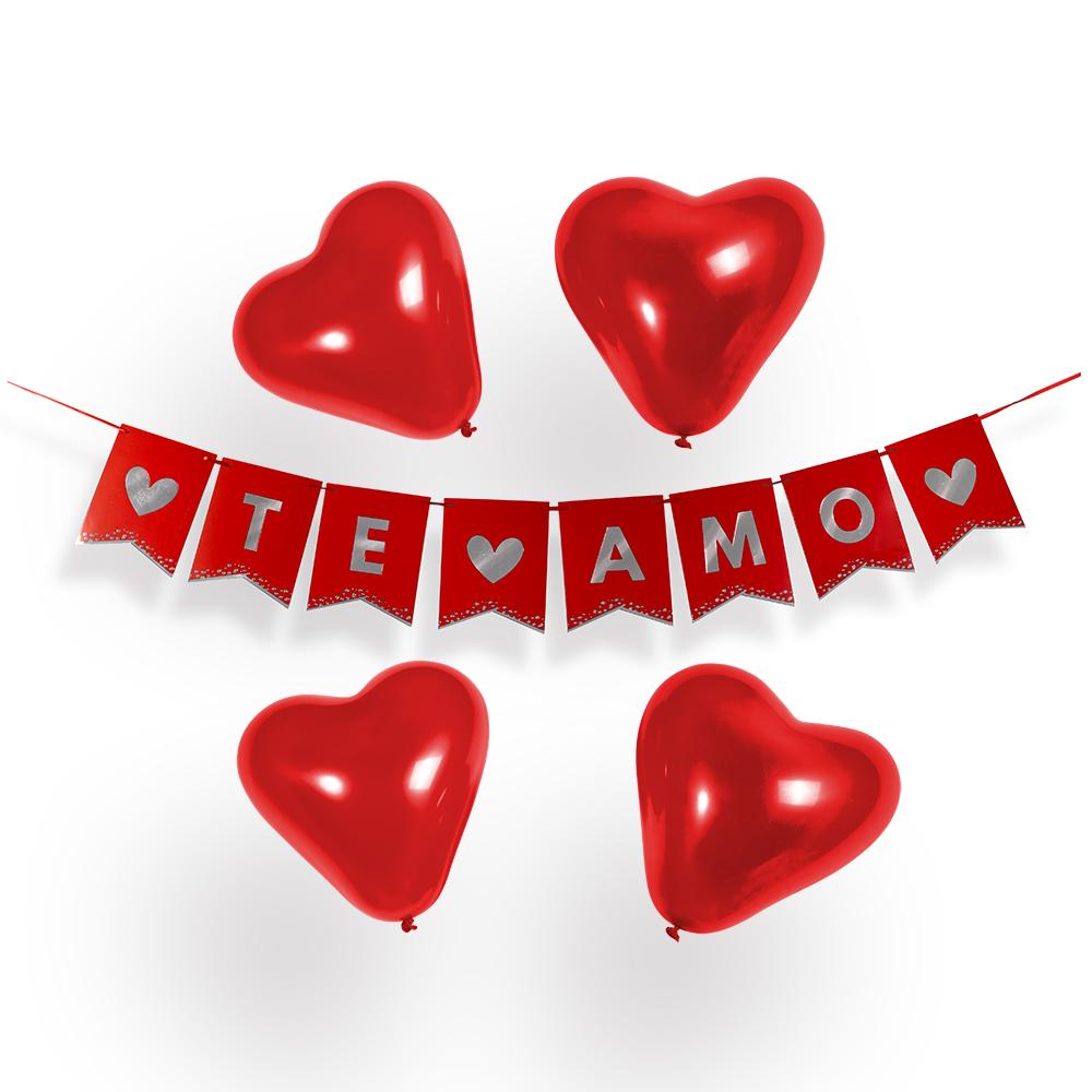 globos rojos ideas para el dia de los enamorados