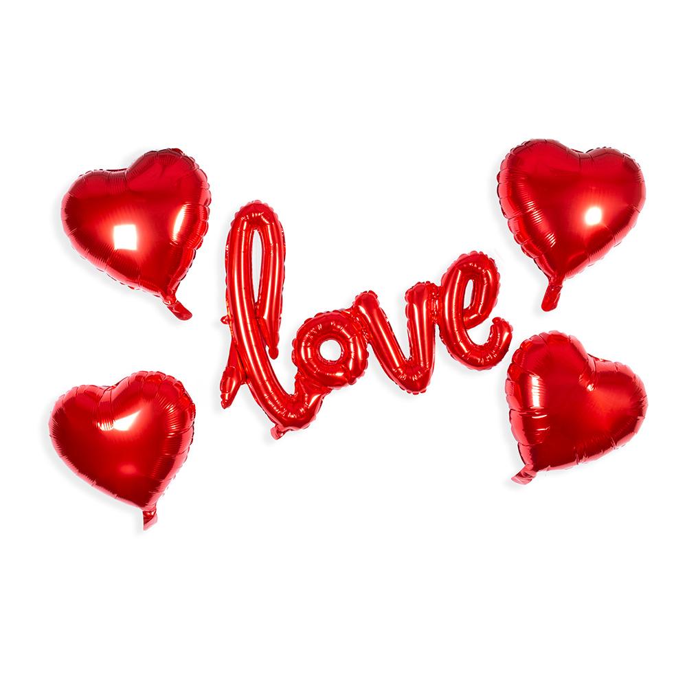 set de globos love ideas para el 14 de febrero