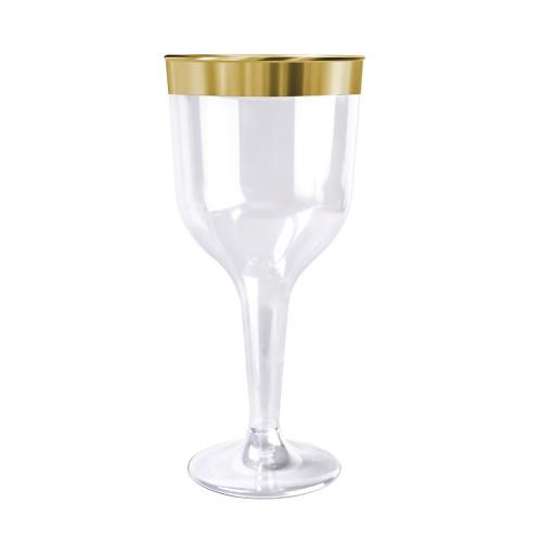 decoracion de mesas copa dorado para vino