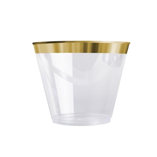 vaso dorado decoracion de mesas