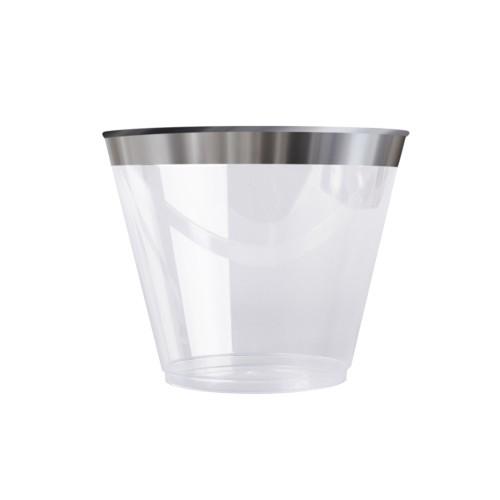 vaso plateado decoracion de mesas