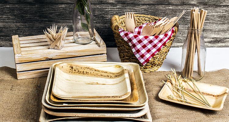 platos materiales reciclables
