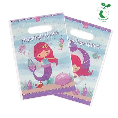 bolsa para dulces de sirena fiesta de cumpleaños