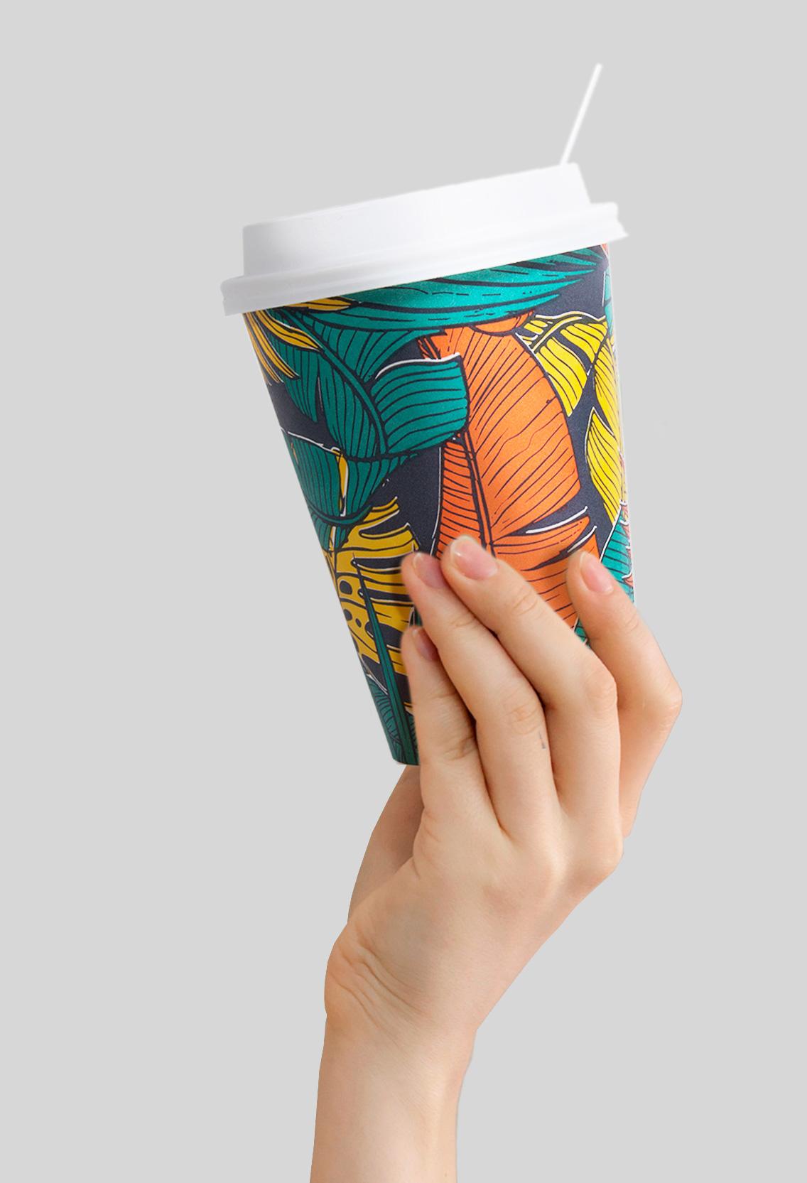 cafe en grano vaso