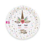 decoración de unicornio platos